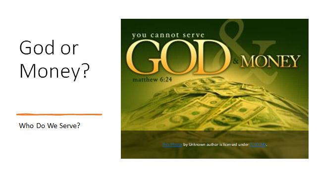 God or Money